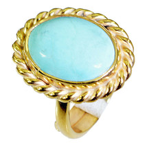 appealing Turquoise Gold Plated Multi Ring Natural wholesale US gift - $24.99