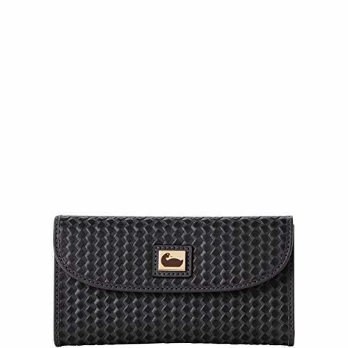 Dooney and Bourke Camden Woven Continental Clutch Black