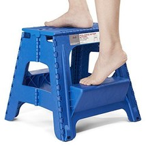 Acko 2-in-1 Dual Purpose Stool Two Step Ladder Durable Plastic Folding S... - $37.49