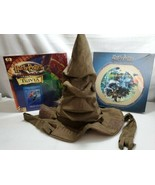 HARRY POTTER LOT Talking Hat Trivia Game chamber secrets & 300 pc Puzzle... - $34.65