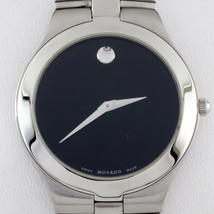 Movado Stainless Steel Men's Quartz Watch w/ Black Dial 84.G2.1899 - $297.57