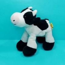 "Wild Republic Cow black White Plush Lil Finger Puppet Realistic Soft 7"" - $15.83"