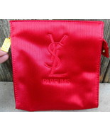 Yves Saint Laurent Parfums Red Satin Embroideried Bag - $24.00