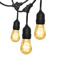 SUPERDANNY 52FT Outdoor String Lights Commercial Grade UL Weatherproof 3... - $55.92