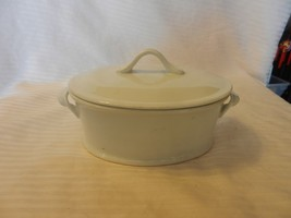 Small White Ceramic Oval Shaped Casserole Pot & Lid 1.5 Quart from Cordo... - ₹2,835.04 INR