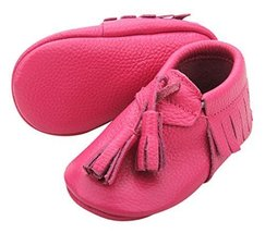 Unique Baby Quality Leather Baby Moccasin with Hanging Tassel (0-6 month... - $8.99