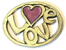 LOVE Fine Pewter Pendant Approx. 1-1/2 inches wide image 3