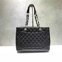 BRAND NEW AUTH CHANEL QUILTED CAVIAR GST GRAND SHOPPING TOTE BAG SHW  image 5