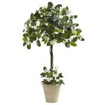 3' Stephanotis Topiary w/Planter, Nearly Natural - $60.13