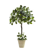 3' Stephanotis Topiary w/Planter, Nearly Natural - $60.13