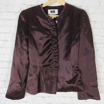Armani Collezioni Jacke Blazer Damen Größe 8 Lila Seide - $48.69