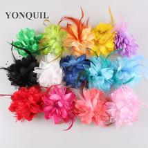 12PCS/LOT Handmade fabric lace silk Flower decor wedding - $37.95