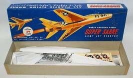 Vintage HOBBY-TIME North American F-100A SUPER SABRE Jet Fighter Model K... - $25.00