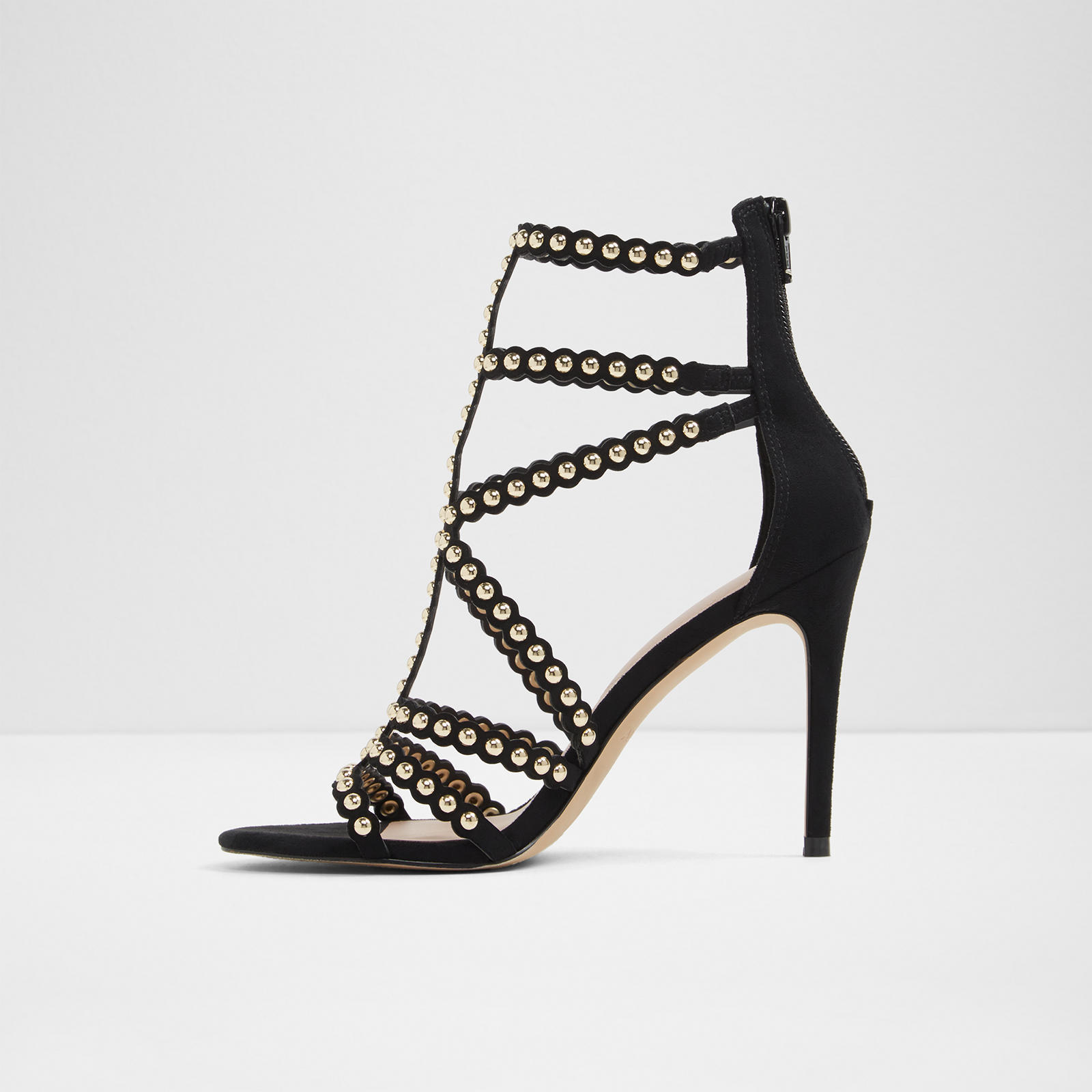 ALDO Gisel Caged Studded Detail Strappy Dress Sandals, Mult Sizes Black GISEL-98