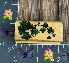 StampCraft Ivy Leafy Plant Rubber Stamp 440D18 Wood #N51 - $6.92