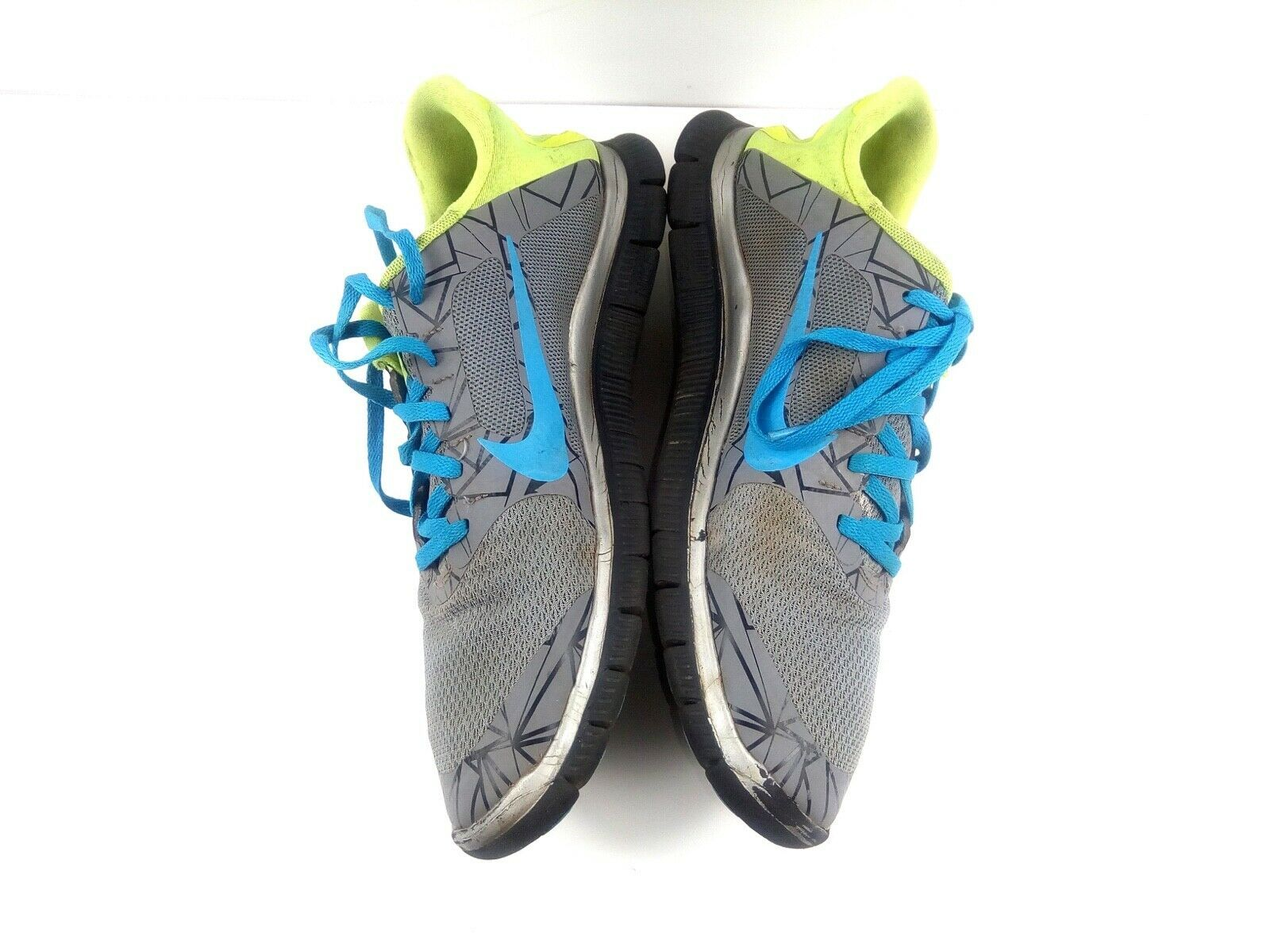 Nike Free 4.0 V3 Men's Sneakers Blue Grey Volt Running Training Shoes Size 10