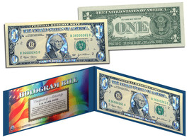SILVER DIAMOND CRACKLE HOLOGRAM Legal Tender US $1 Bill Currency Limited... - $9.46