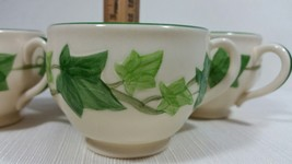 Vintage Franciscan Ivy Earthenware Four (4) Footed Cups Made in the USA - $39.99