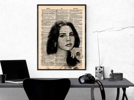 Music Art Print-Lana Del Ray Art Print-Music Prints-Vintage Art-Home Dec... - $11.82