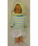 Generic 18-312fg Vintage Baby Doll with Crocheted Hat 18in Plastic Fabric - $21.08