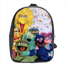 School bag 3 sizes big bird oscar cookie monster abby cadabby sesame street - $39.00+