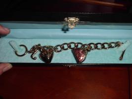 """Juicy Couture Starter Gold Tone Charm Bracelet + 2004 """"La Couture"""" Bowle... - $74.25"""