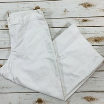 Ralph Lauren Women's Pants White Cropped Flat Front Size 12 NWOT - $17.81