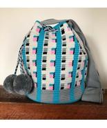 Authentic 100% Wayuu Mochila Colombian Bag Large Size Gorgeous soft Colo... - $90.00