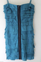 NEW BCBG Max Azria Tahiti Blue Brandie Convertible Tiered Strapless Dress 4 $248 - $138.00