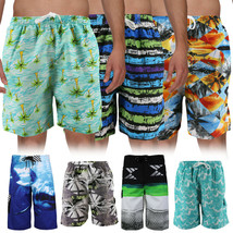 Men's Board Shorts Sport Beach Swimwear Bathing Suit Slim Fit Trunks image 1