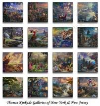 "Thomas Kinkade Complete DISNEY Canvas Wrap Set of 16 ""The Ultimate Colle... - $1,020.00"