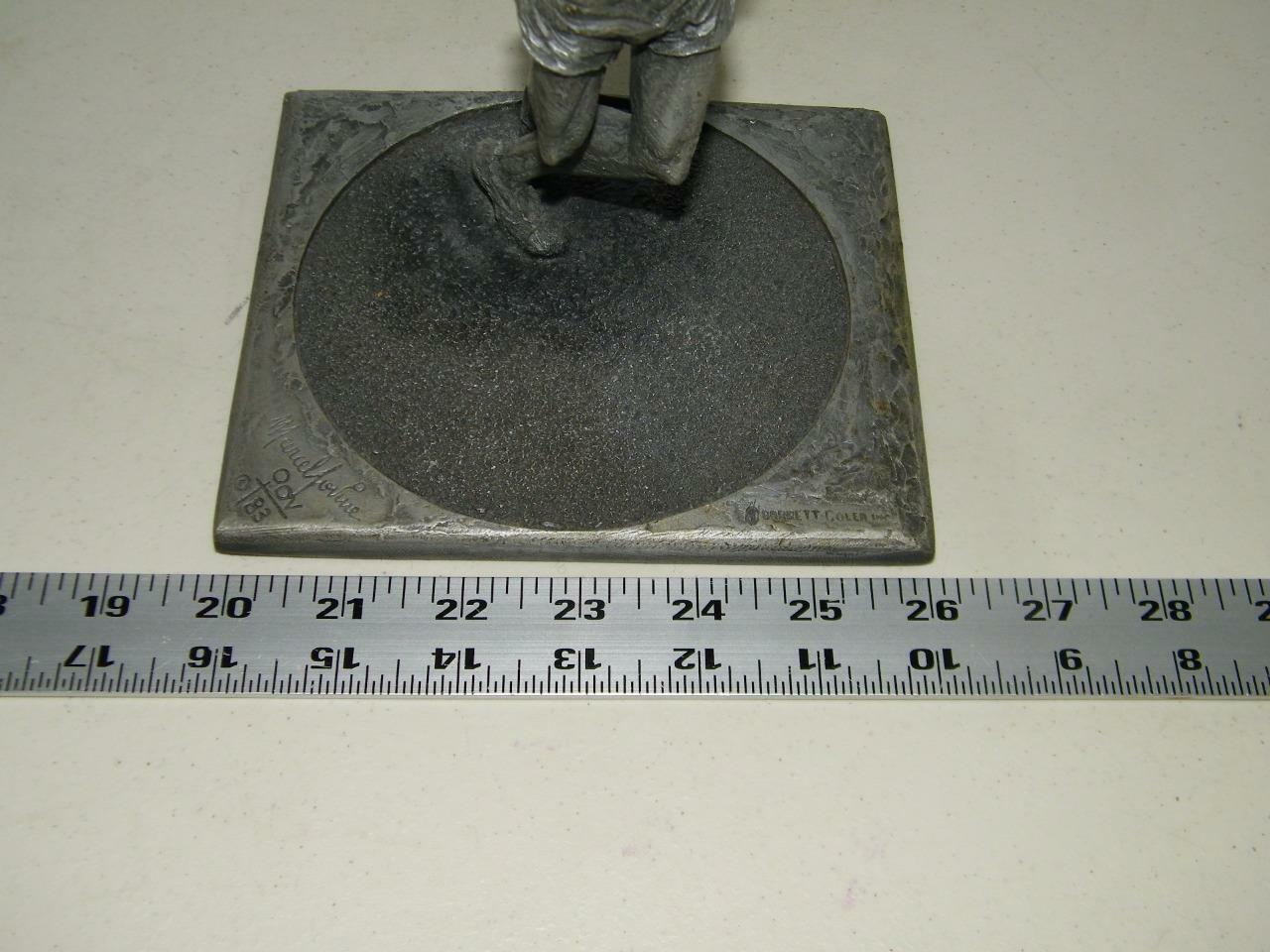 Vintage 1984 Discus Sculpture for Telephone AT & T Pewter Tone 14437 image 5