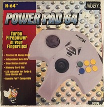 Old Stock N64 Nintendo Nuby Power Pad 64 Controller Winged Rare With Turbo - $38.49