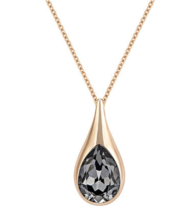 NEW IN BOX Swarovski DROP Pendant Rose Gold Necklace 5190010 - $116.99