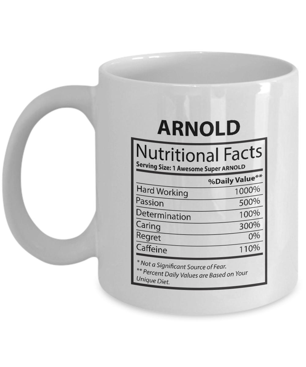 You're my person Mug For Him, Her - ARNOLD Nutritional Facts-  Customized  Coffe