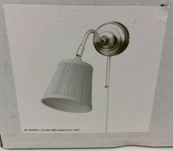 Ikea Astrid Wall Mount Lamp White Silver Pull String Max 40W AA-183371-1... - $21.49