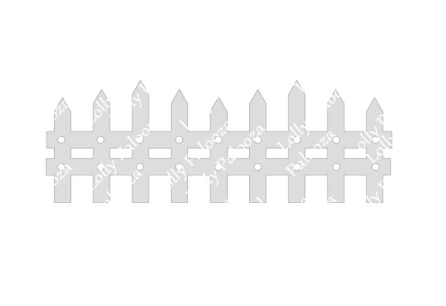 Long Fence Digital File.  Instant Download. PNG & SVG Files.