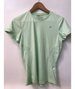 Womens ASICS Light Green Polyester Training T-shirt Top Size S Small - $12.95