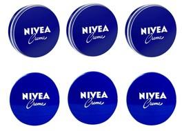 6 Can of 30 mL/ 1 oz NIVEA CREAM Skin Hand CREME moisturizer Metal Tin T... - $10.17