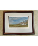 Original Art by Ryan Jones - Watercolor Painting Framed Landscape Family... - $623.70