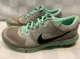 NIKE Flex 2015 RN Running Shoes Women's Size 9 Wolf Gray Green 709021-008 - $14.84