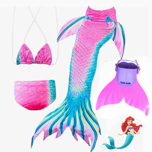 New 4Pcs Swimmable Mermaid Tail with Monofin Gift for Daughter Granddaughter - $32.99