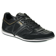 Hugo Boss Men's Premium Sport Leather Sneakers Shoes Saturn Lowp Strf image 2