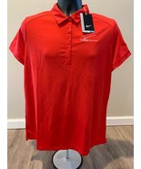 NWT Nike Women's 5 Button Golf Polo V Foundation All Sizes Red 725582-657 - $9.88