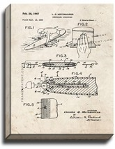 Surfboard Structure Patent Print Old Look on Canvas - $69.95+