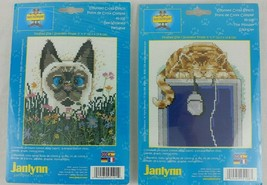 Cat X Stitch Kits Lot 2 Janlynn Siamese Tabby Mouser Bee Wildered Patter... - $9.95