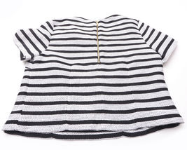 NEW EXPRESS Womens SHIRT TOP Size Medium Black White Zipped Back image 5