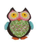 "Embroidered Multicolored Owl Bird Plush Stuffed Animal 12.5"" - $39.60"