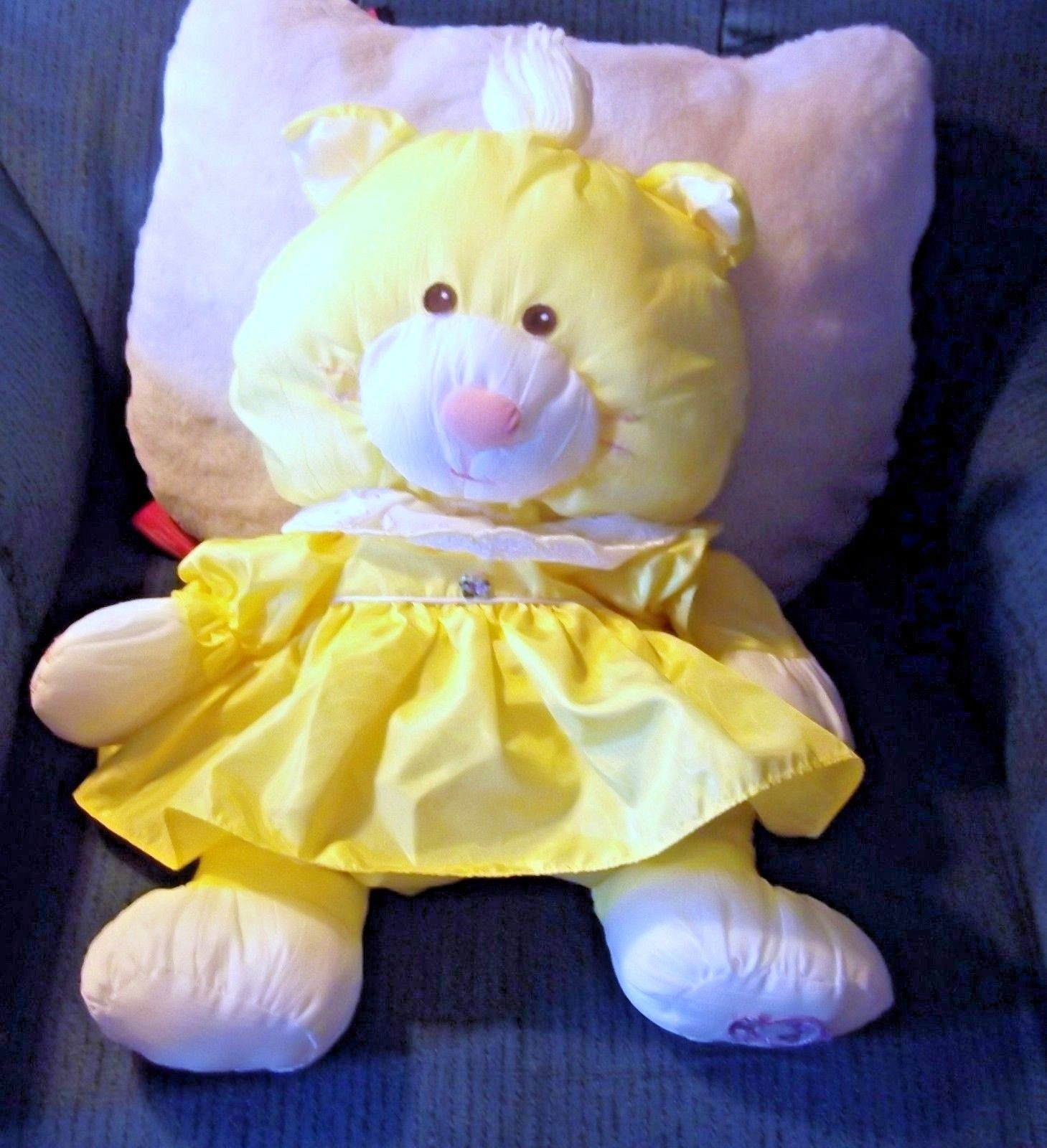Primary image for Vintage Fisher Price Yellow Cat Puffalump