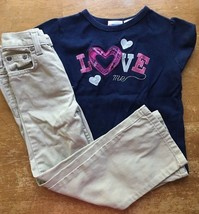 71f95be37703 Girls Faded Glory Khaki Jeans Pants Size 4 and Kid Connection Love Shirt...  Add to cart · View similar items